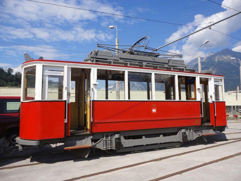 Old world charm. LocalBahn Museum (Tram Museum), Innsbruck, Austria
