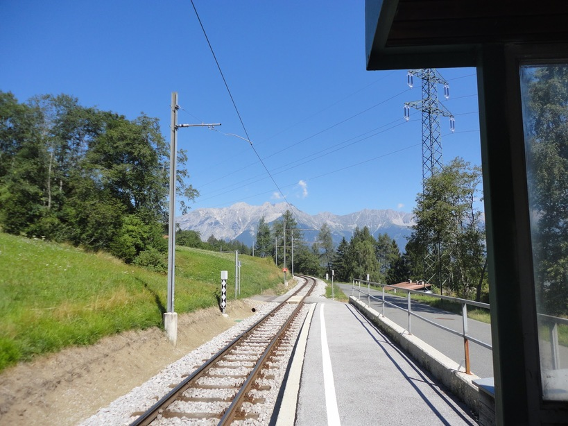 Ausserkreith tram station. Innsbruck, Austria
