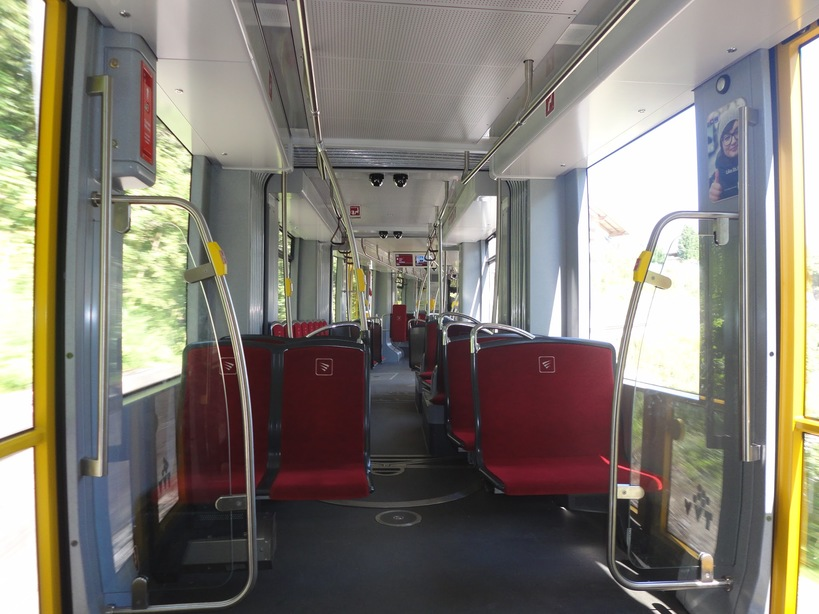 Inside the STB tram, Innsbruck, Austria