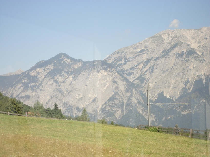 View from the STB tram. Innsbruck to Ausserkreith. Austria