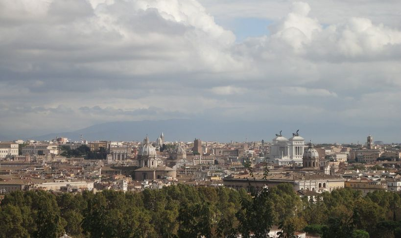 The Magnificent City of Rome. From Gianicolo Hill, Rome, Italy