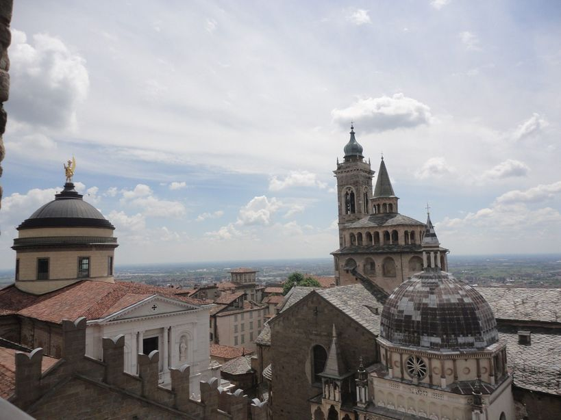 Frame it! From the bell tower at Bergamo, Italy