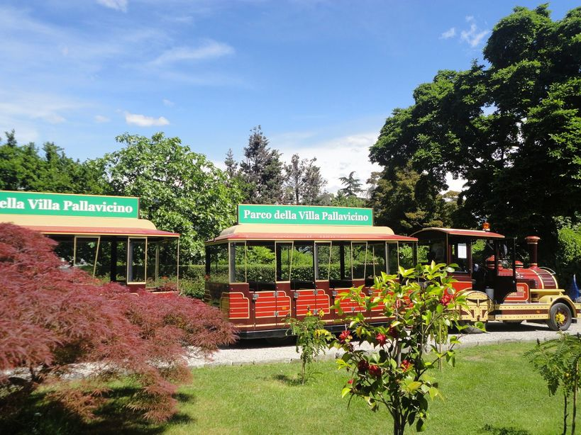 Hop on! The tourist train. Stresa, Italy