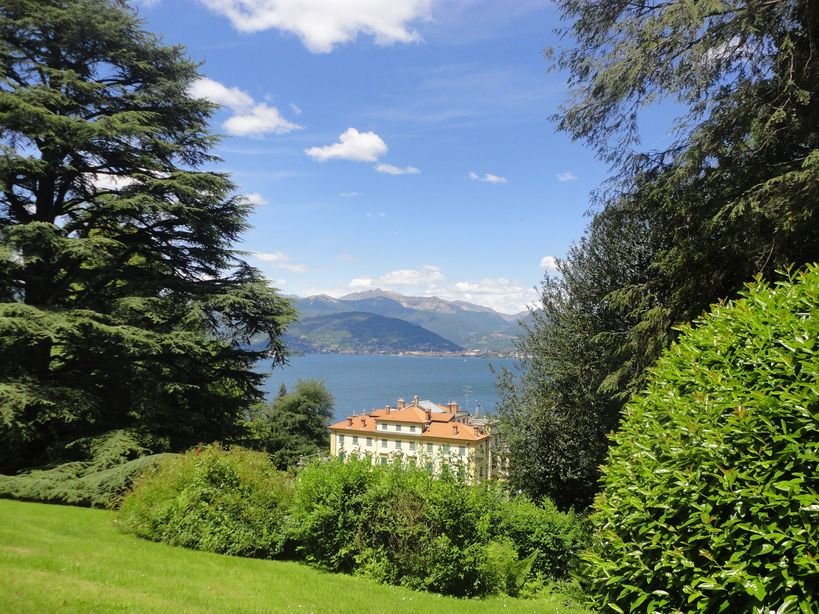 The gardens at the Villa Pallavicino. Stresa, Italy