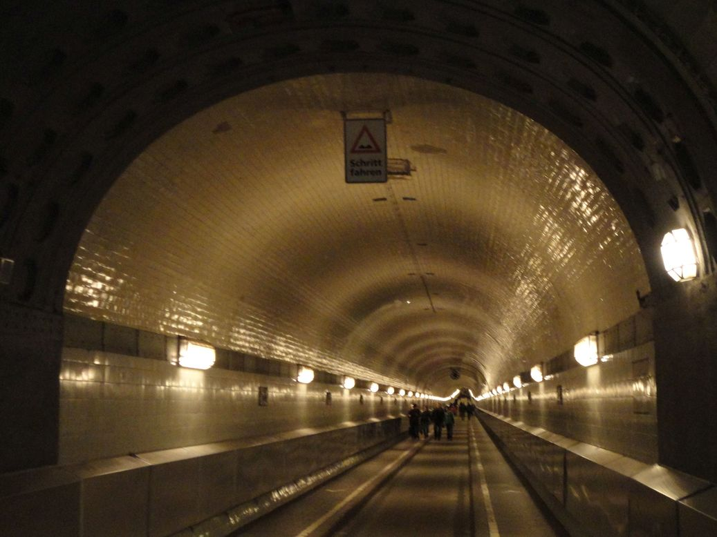 The old Elbe tunnel. Landungsbrücken, Hamburg, Italy