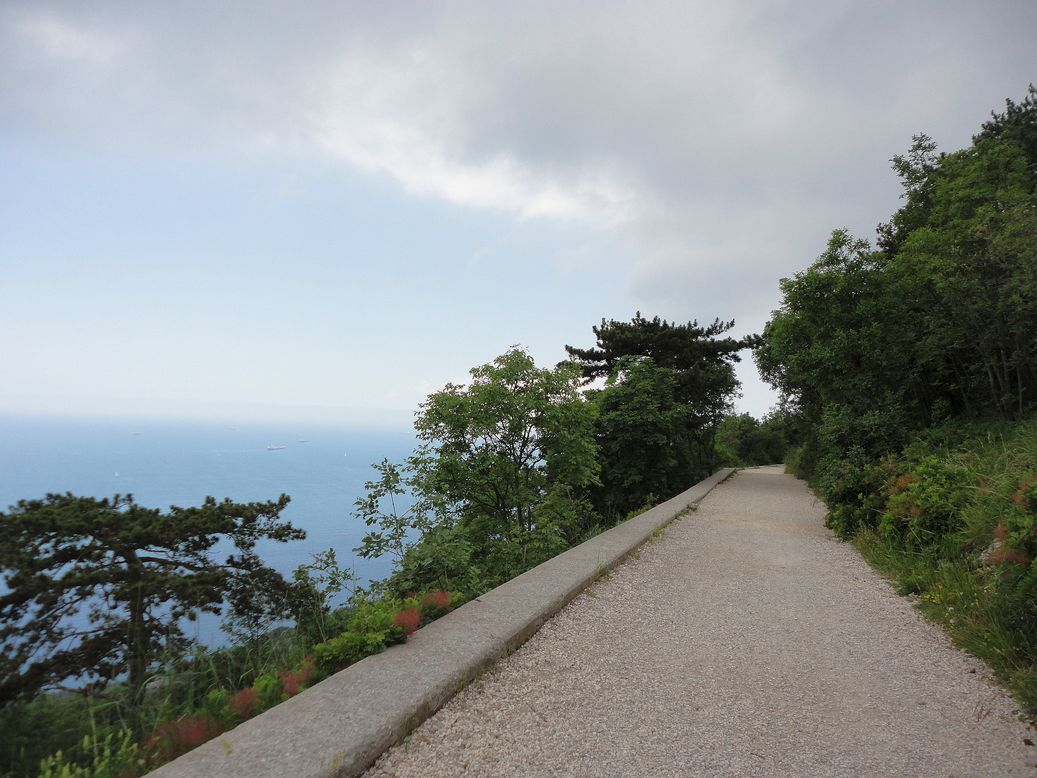 Go where the trail leads. Strada Vicentina (Strada Napoleonica), Trieste, Italy