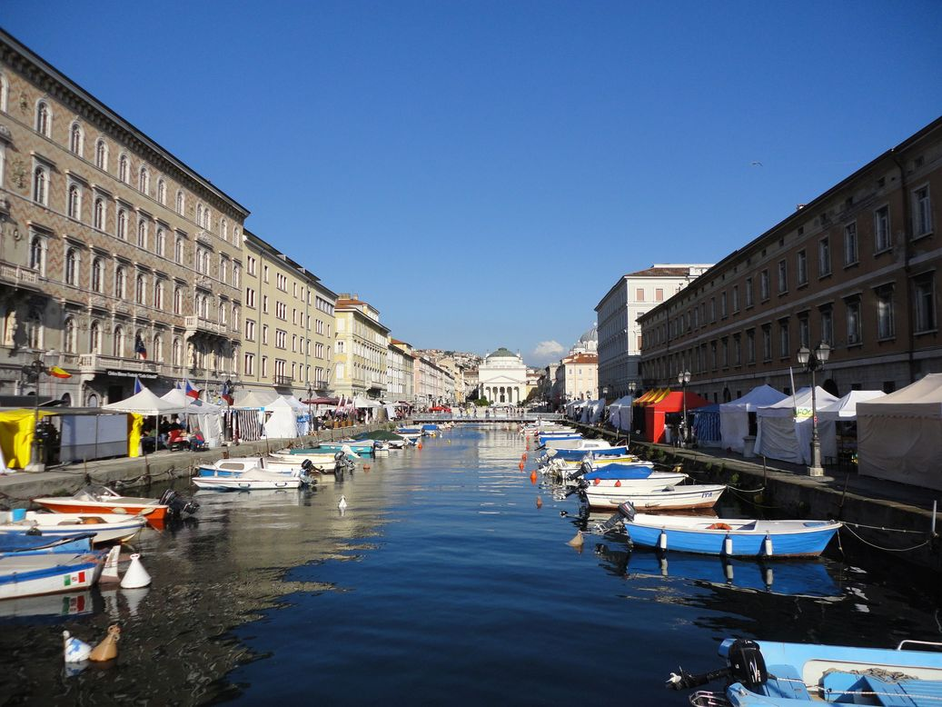 The Canal Grande. Trieste, Italy