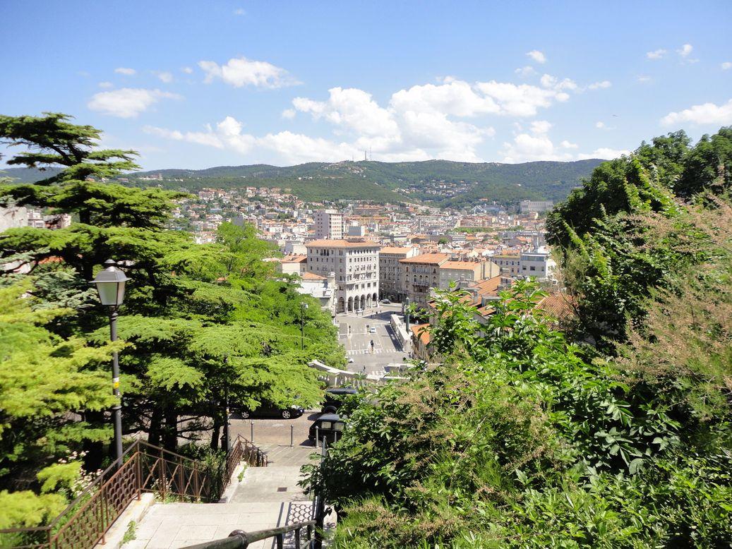 Climbing the Scala dei Giganti. Trieste, Italy