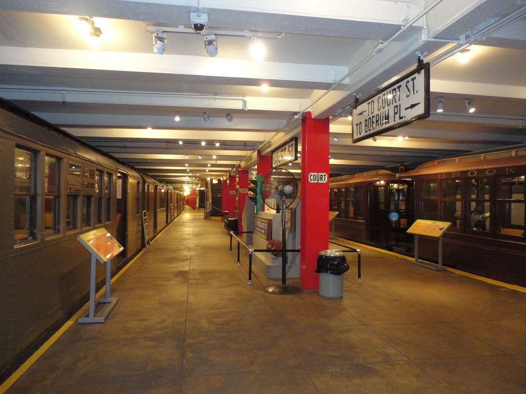 At the New York Transit Museum, NYC, USA