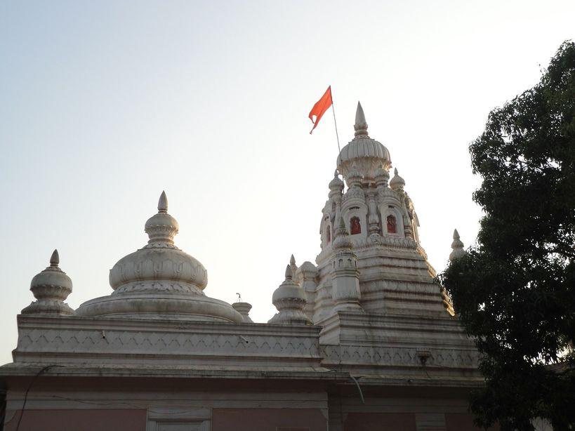 The charming Anjarle Ganesh Temple. Anjarle, Maharashtra, India
