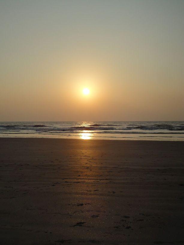 Sunset. Karde Beach, Maharashtra, India