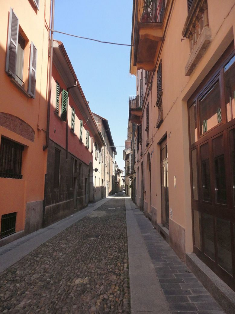 Streets of Pavia. Italy