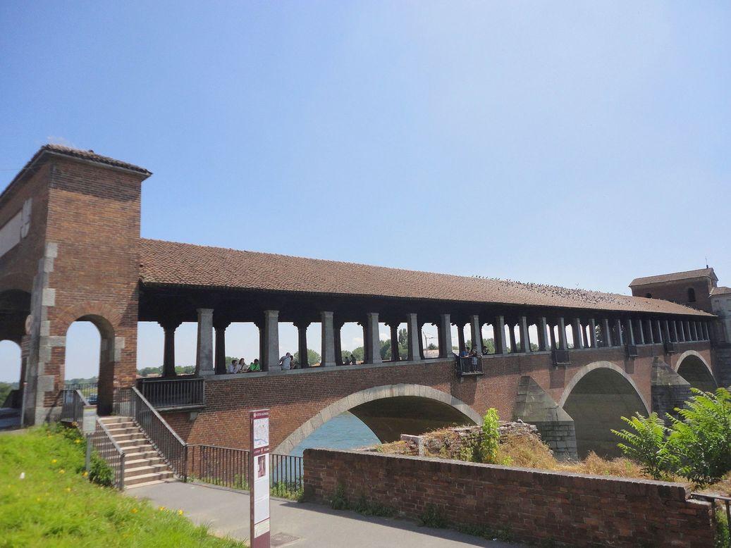 Ponte Coperto, Pavia. Italy
