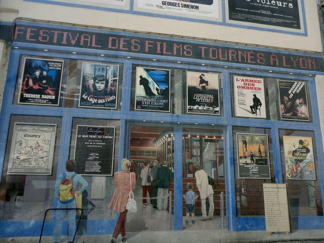 Le Mur du Cinéma. Lyon, France