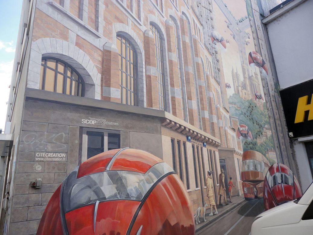 La Fresque Lumière. Lyon, France
