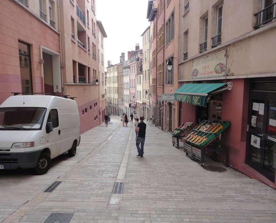 Exploring the Croix-Rousse district. Lyon, France