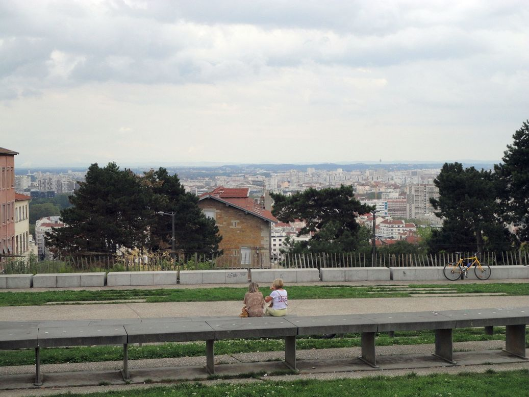 Parc Gros Caillou atop the Croix-Rousse hill. Lyon, France