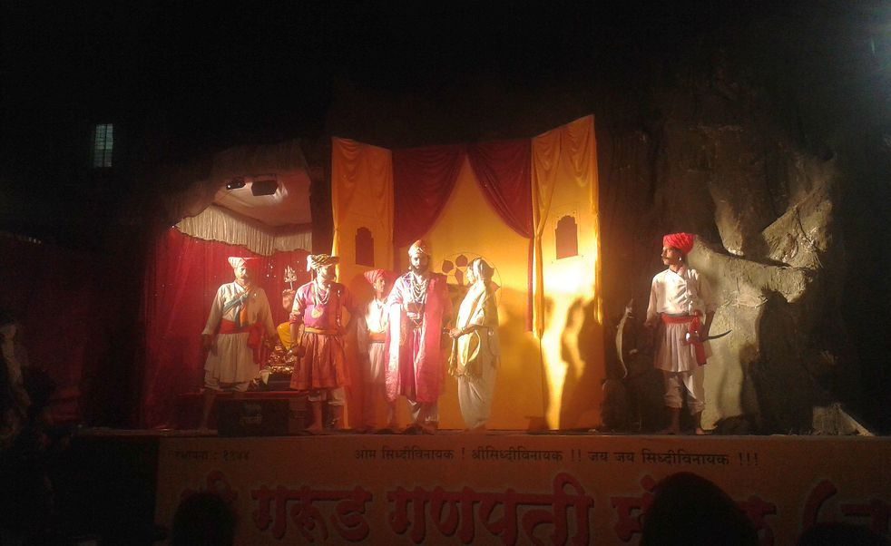 The Story of Kondana's Capture (Shivaji and Tanaji Malusare). Ganesh Chaturthi, Pune, India