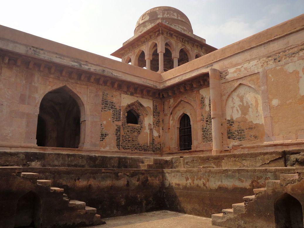 Baz Bahadur's Palace. Mandu (Mandav), Madhya Pradesh, India