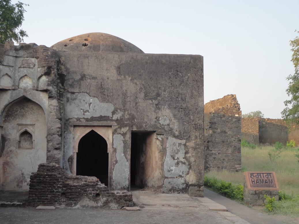 Hamam. Mandu (Mandav), Madhya Pradesh, India