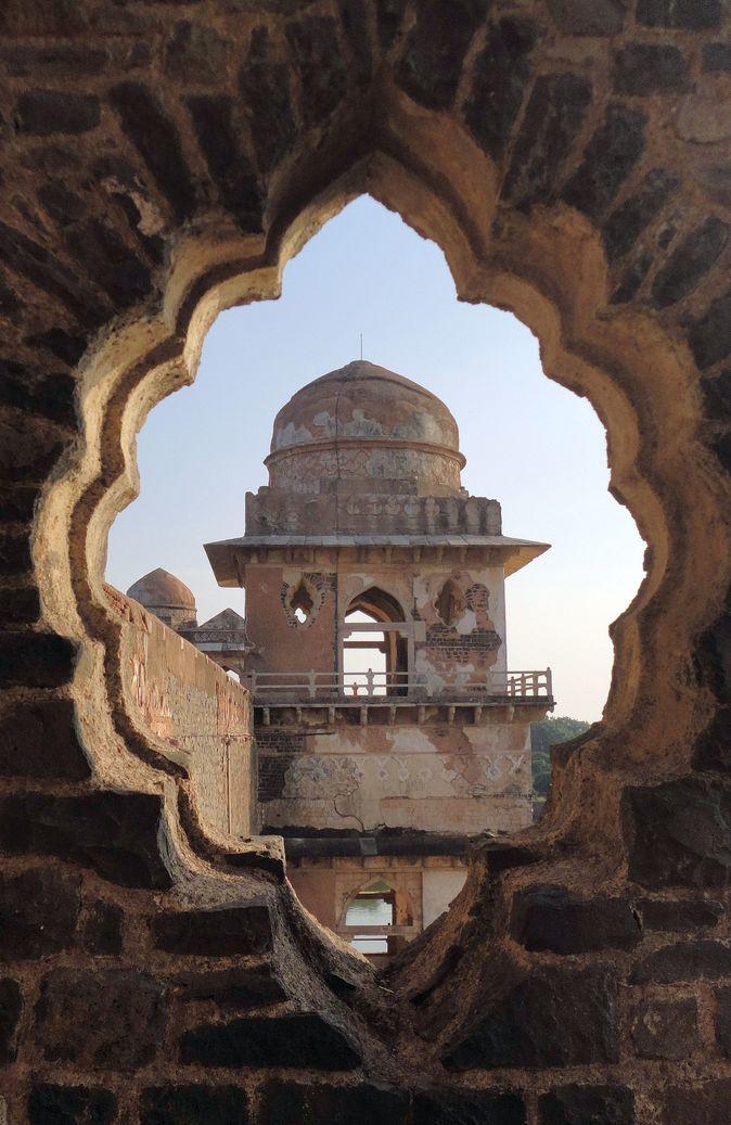 Jahaz Mahal. Mandu (Mandav), Madhya Pradesh, India