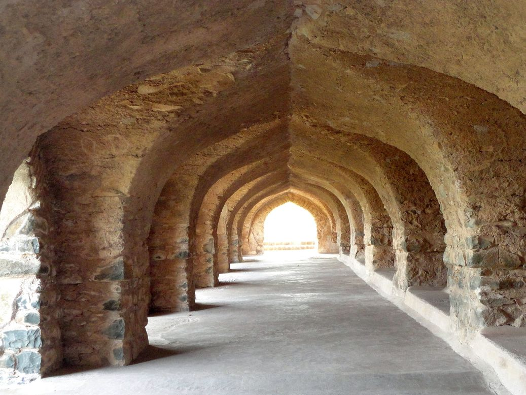 Arches at Roopmati Pavilion. Mandu (Mandav), Madhya Pradesh, India