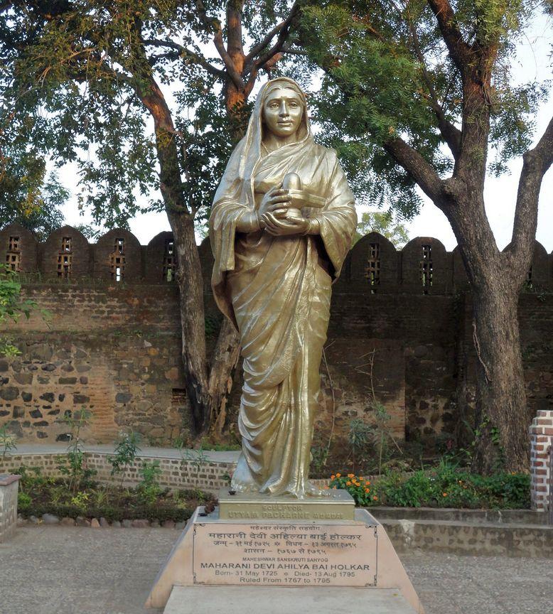 Queen Ahilyabai Holkar. Maheshwar Fort, Madhya Pradesh