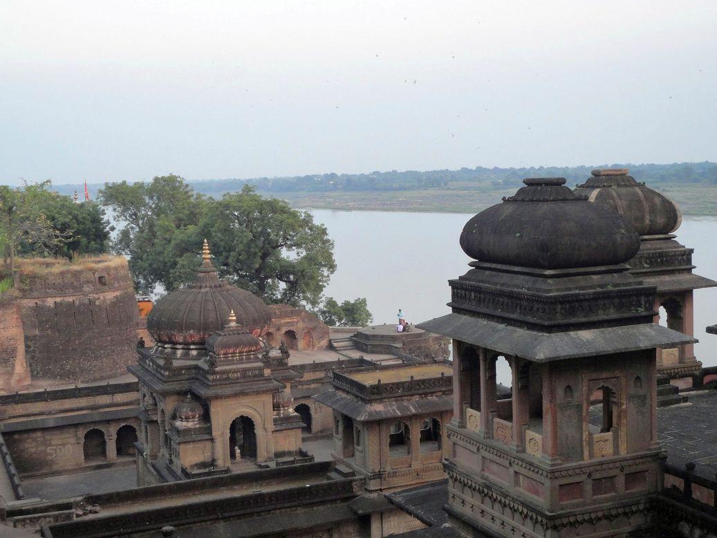 Temples of Maheshwar. Madhya Pradesh, India