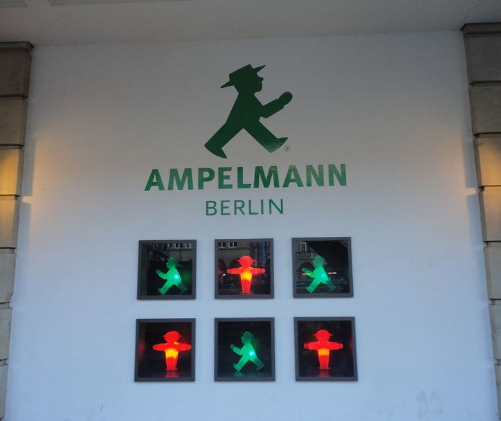The special man, the Ampelmann. Berlin, Germnay