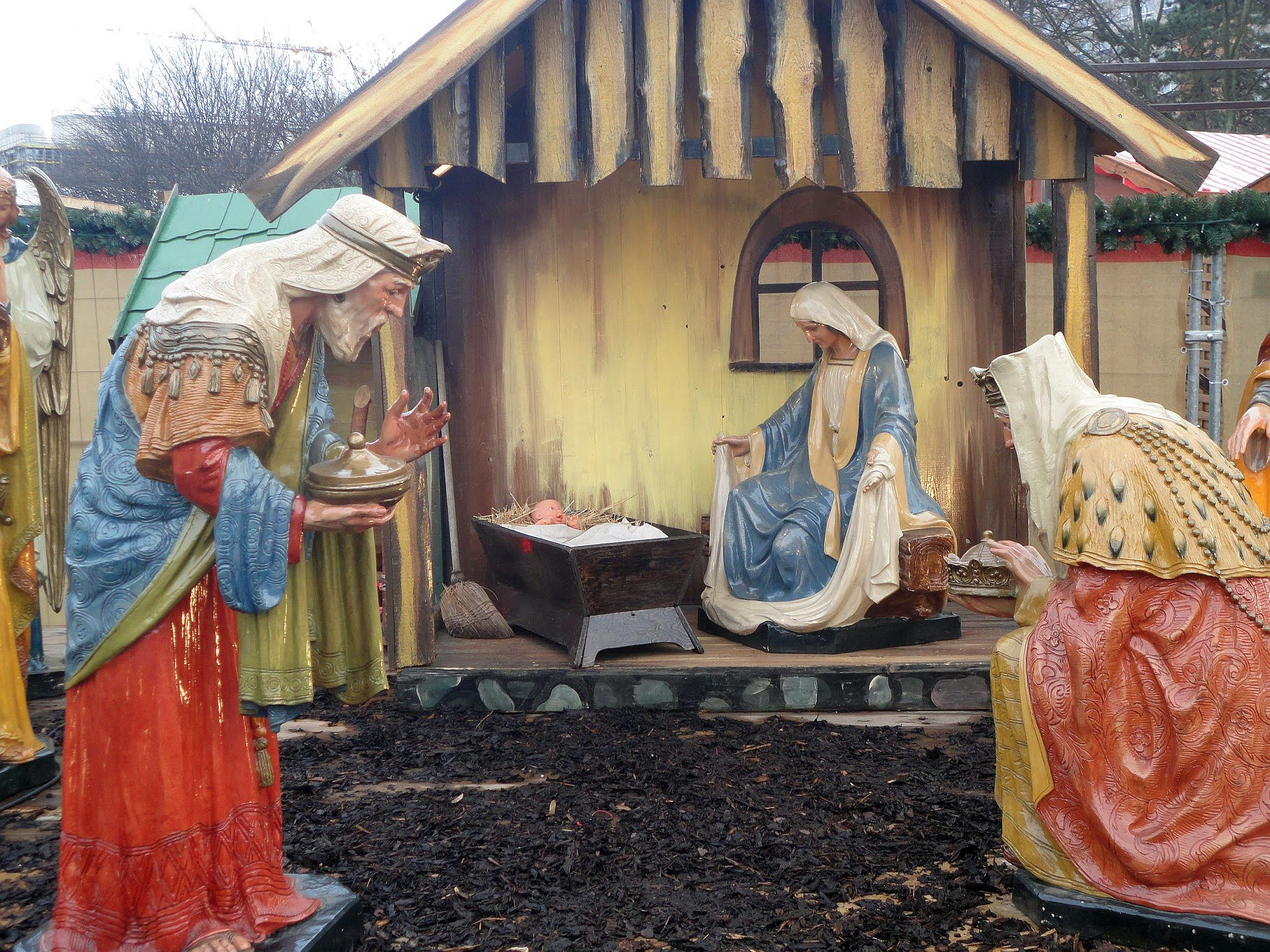 Nativity Scene. Christmas Market, Berlin, Germany