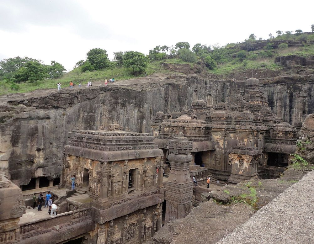 The magnificent Kailasa temple. Ellora caves, Maharashtra, India
