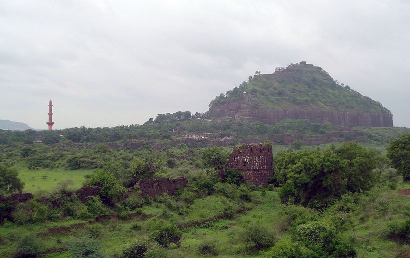 Daulatabad Fort. En route to the Ellora Caves, Maharashtra, India