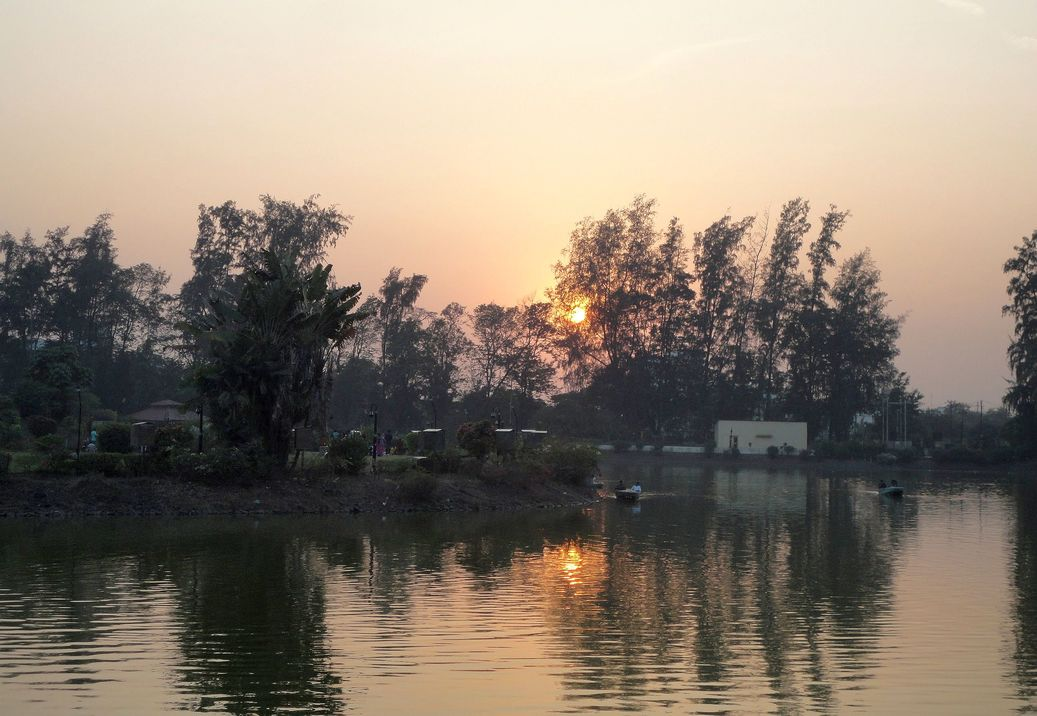 Sunset at the Island Garden, Dadra. Dadra and Nagar Haveli, India