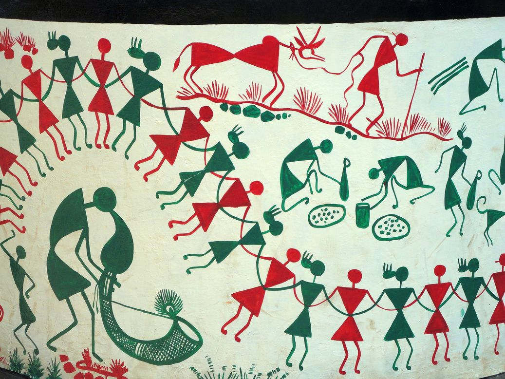 Beautiful Warli art. Silvassa, India