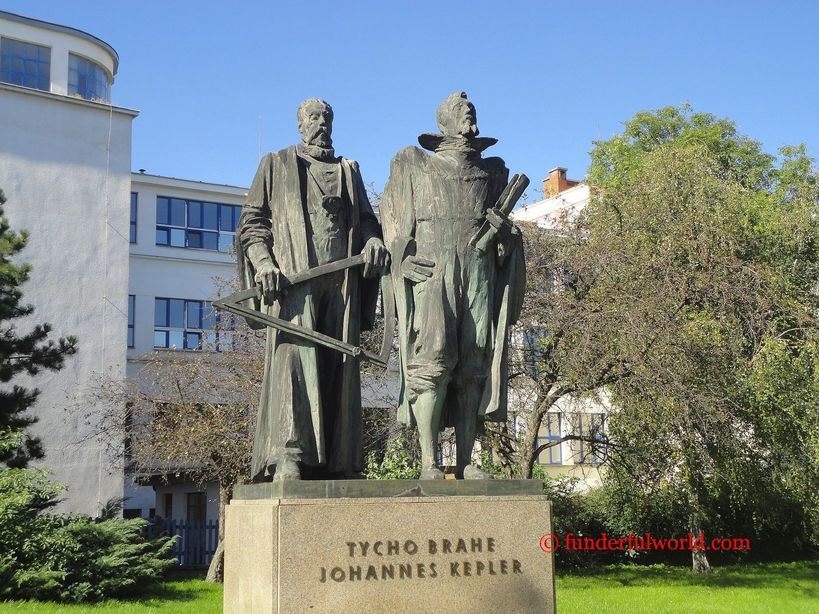 Brahe and Kepler. Prague, Czech Republic.