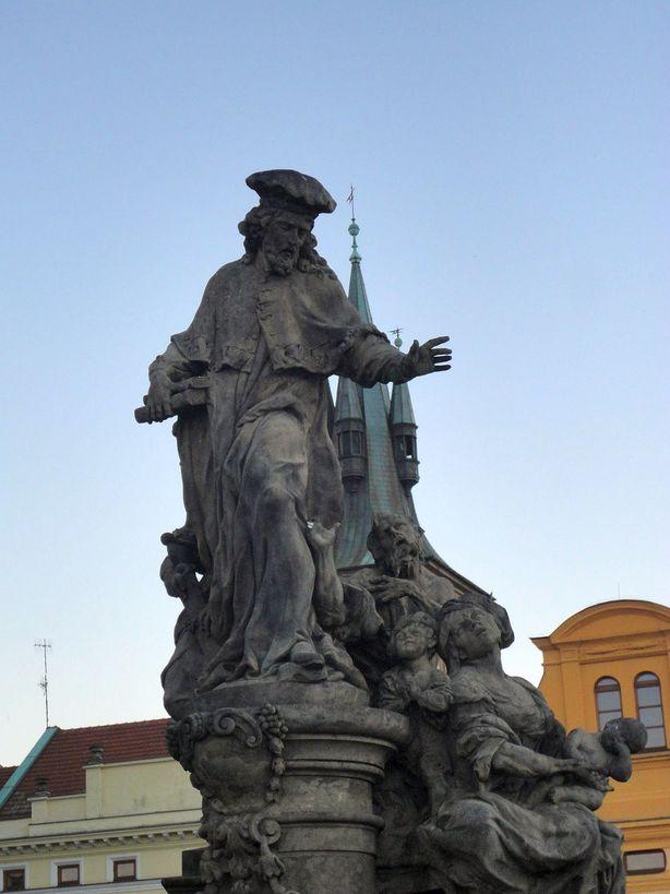 Statues on Charles Bridge. Prague, Czech Republic.