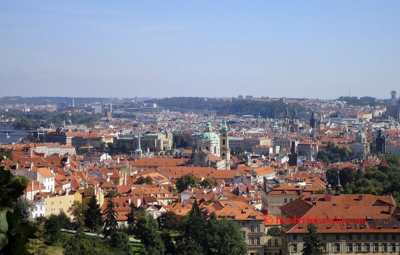 Looking over the city. Prague, Czech Republic
