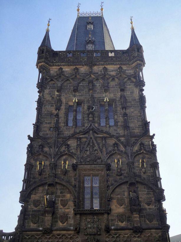 Standing Tall. The Powder Tower, Prague, Czech Republic.