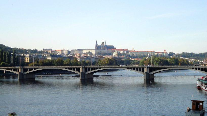 Bridge across the River Vltava. Prague, Czech Republic.