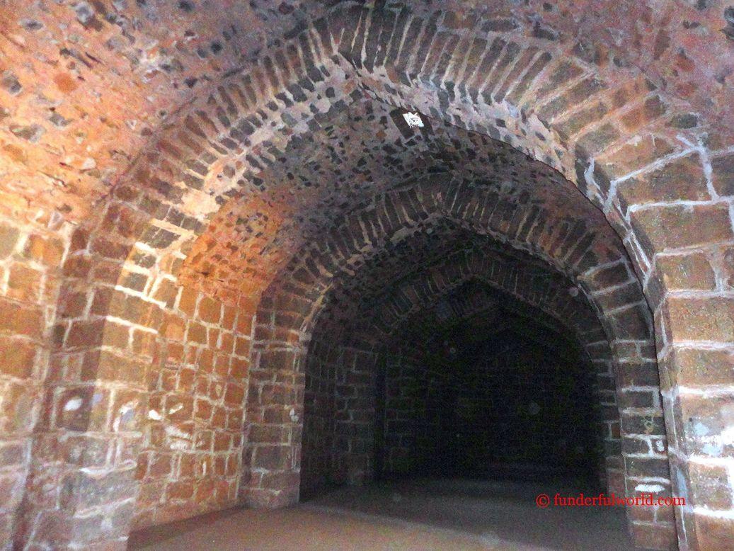 Inside a granary. Ambar Khana, Panhala, Maharashtra.