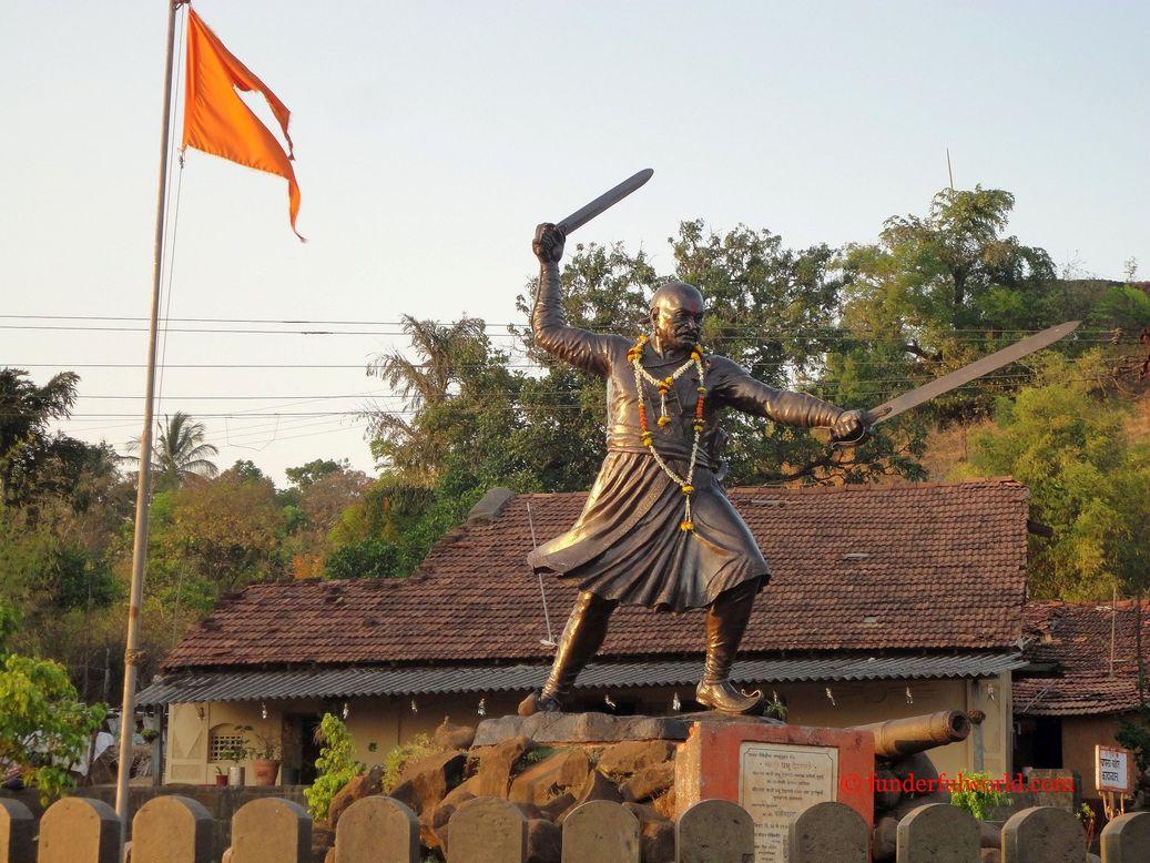 The valiant Baji Prabhu Deshpande. Panhala, Maharashtra.