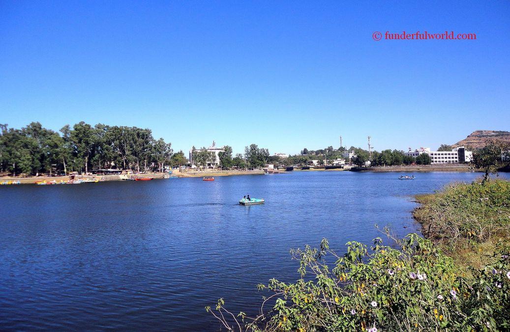 Blue. Saputara Lake, Gujarat, India
