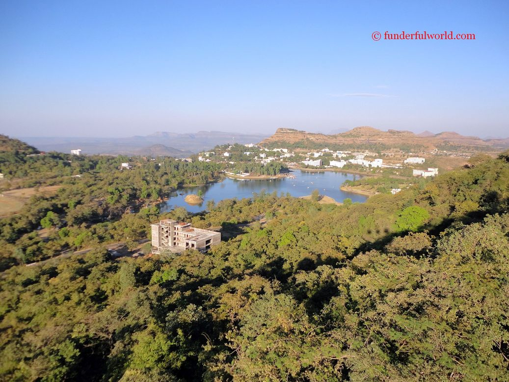 View from the ropeway. Saputara, Gujarat, India.