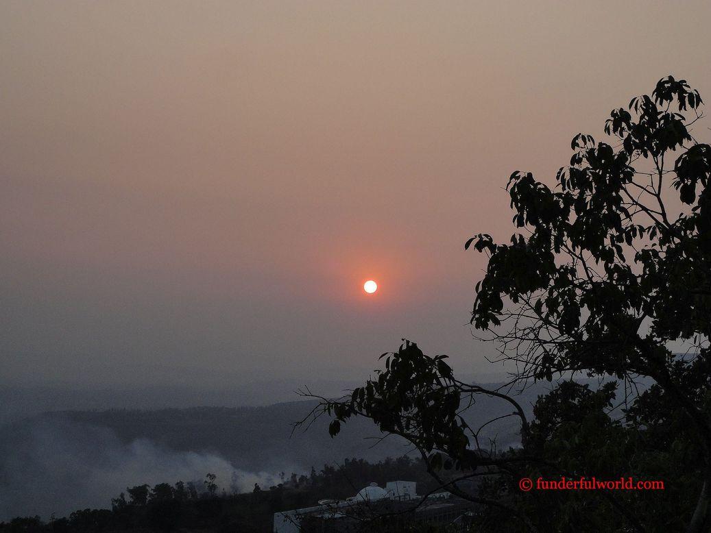Sunset from Panhala Fort. Maharashtra.