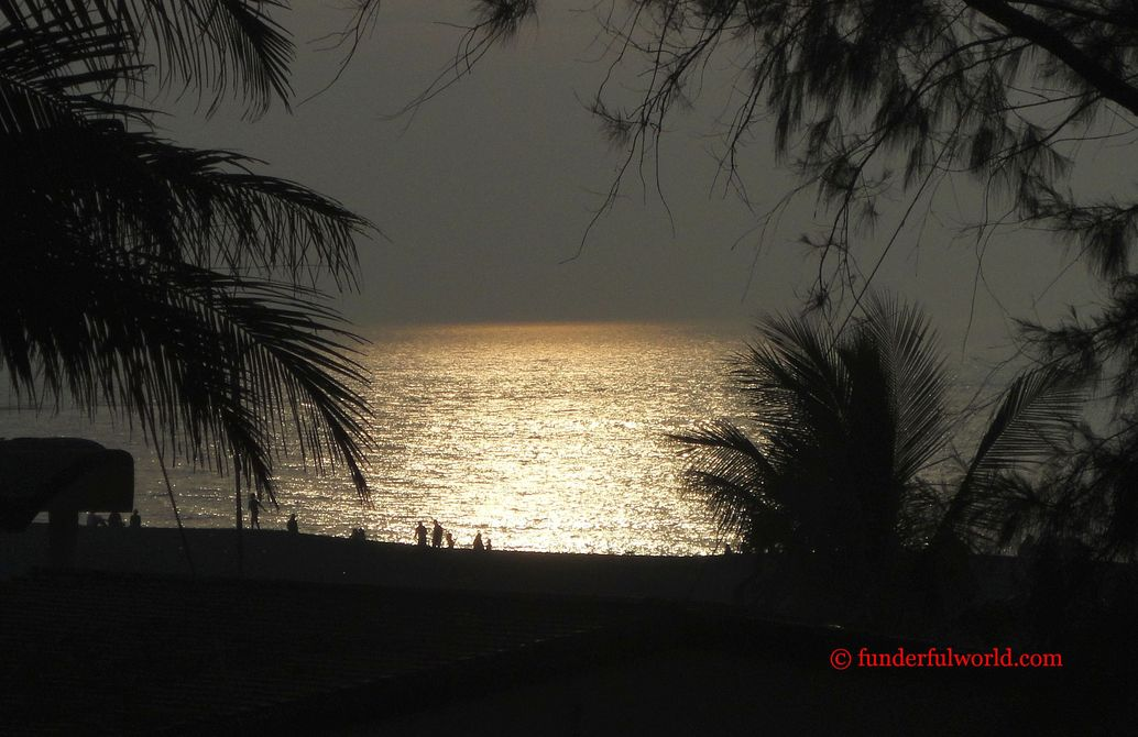 A glorious end to the day. Sunset over the Arabian Sea, Daman, India.