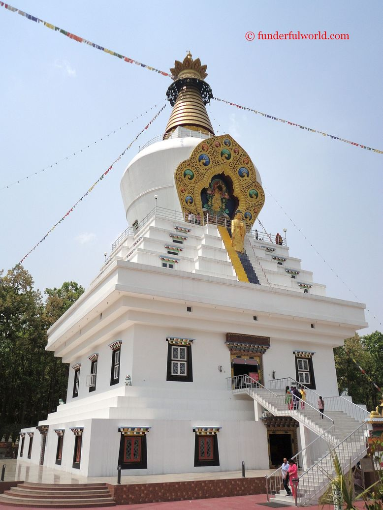 Stupa at the Mindrolling Monastery. Dehradun, India.