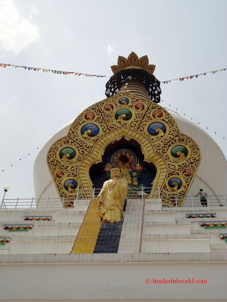 Descent of Buddha from Devaloka. Mindrolling Monastery, Dehradun, India.