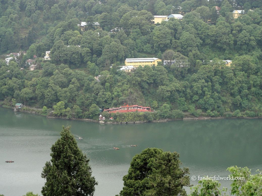 Looking out from the balcony. Nainital, Uttarakhand, India.