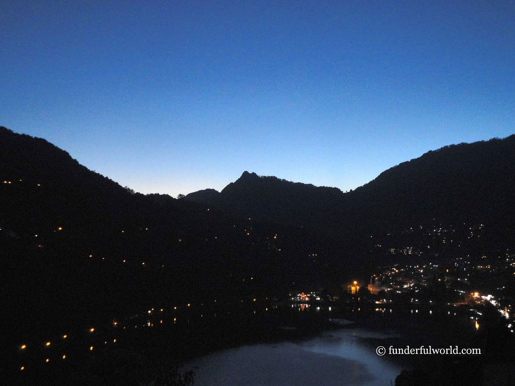 The stars below. Nainital, Uttarakhand, India.