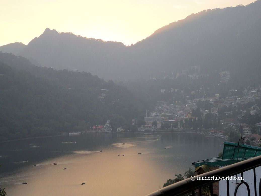 At sundown. Nainital, Uttarakhand, India.